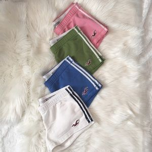 Set of 4!! Hollister Lounge Shorts! 💗💚💙